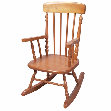 Honey Deluxe Child's Spindle Rocking Chair by Kids Korner - Click to enlarge