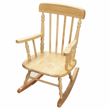 Natural Deluxe Child's Spindle Rocking Chair by Kids Korner - Click to enlarge