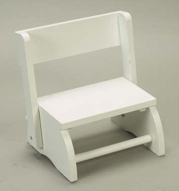 White Small Flip Stool by Kids Korner - Click to enlarge