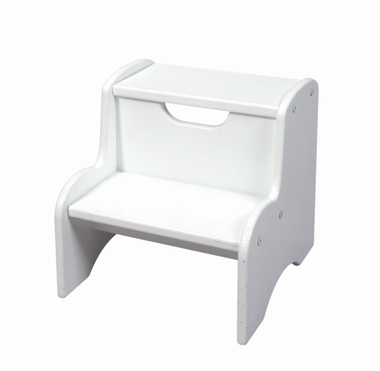 White Two Step Stool by Kids Korner - Click to enlarge