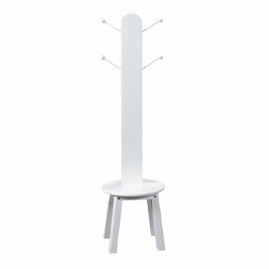 White Clothes Tree with Stool by Kids Korner - Click to enlarge