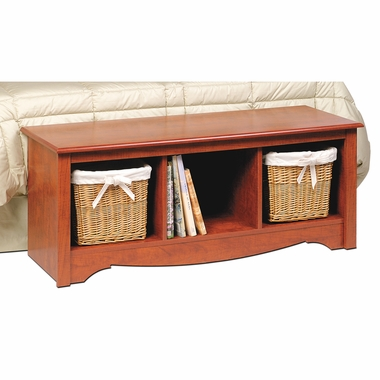 Cherry Monterey Cubbie Bench by PrePac