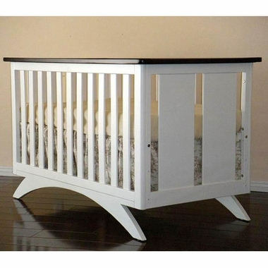 Espresso and White Madison 4 in 1 Convertible Crib by Eden Baby
