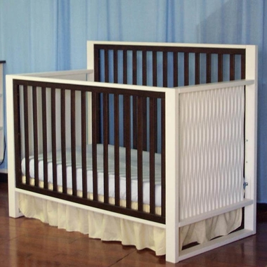 Espresso and White Moderno 4 in 1 Convertible Crib by Eden Baby