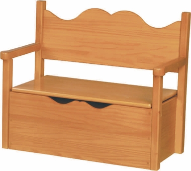 Natural Lacquer Bench Toy Box by Little Colorado