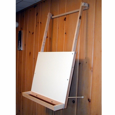 Hanging Easel with Art Supply Tray by Beka