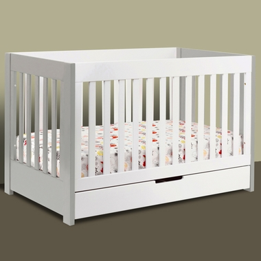 Mercer Convertible Crib In Grey And White M6801gw By