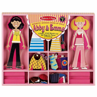 Abby & Emma Magnetic Dress-Up by Melissa & Doug