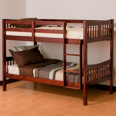 Caribou Bunk Bed In Cherry 09720 124 By Storkcraft Bunk