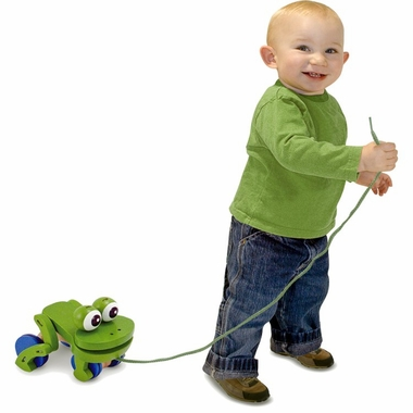 Frolicking Frog Wooden Pull Toy by Melissa & Doug