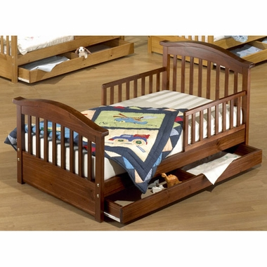 Oak Joel Pine Toddler Bed w/ Drawer by Sorelle - Click to enlarge