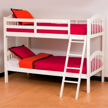 White Longhorn Bunk Bed by Storkcraft - Click to enlarge