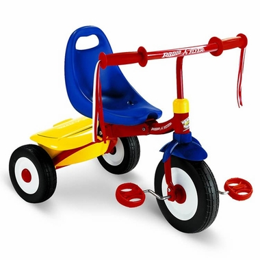 Radio Flyer Fold 2 Go Tricycle in Blue, Yellow and Red