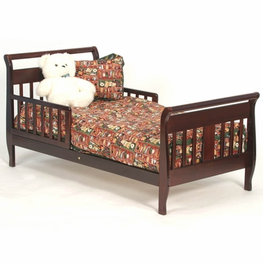 Cherry Soom Soom Sleigh Toddler Bed by Storkcraft - Click to enlarge