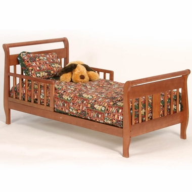 Cognac Soom Soom Sleigh Toddler Bed by Storkcraft - Click to enlarge