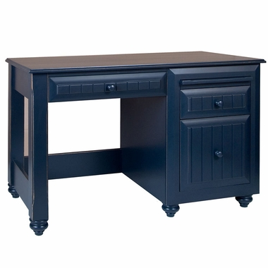 Alligator Treasures Collection Desk (With Keyboard Pullout) in Denim Blue - Click to enlarge