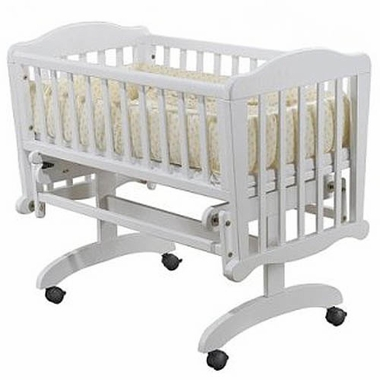 White Dondolla Cradle & Mattress by Sorelle - Click to enlarge