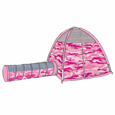 Pacific Play Tents New Pink Camo Tent & Tunnel Combo