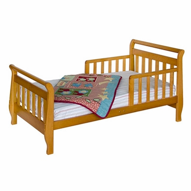 Oak Sleigh Toddler Bed by DaVinci - Click to enlarge
