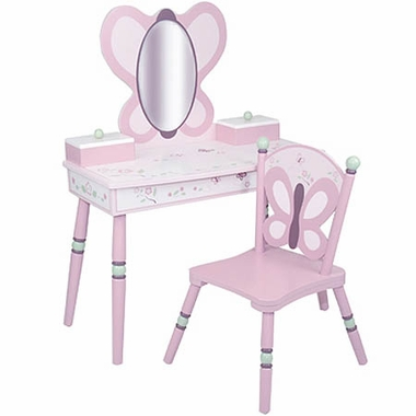 Cocalo Sugar Plum Vanity Table & Chair Set by Levels of Discovery
