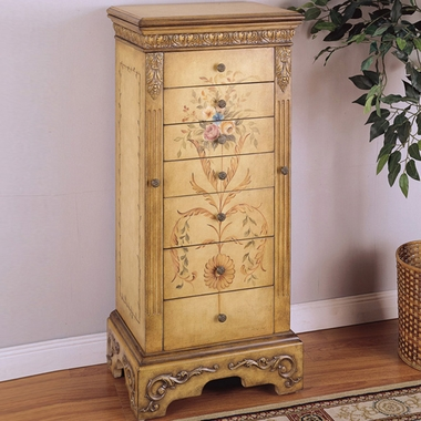Antique Parchment Jewelry Armoire by Powell Furniture