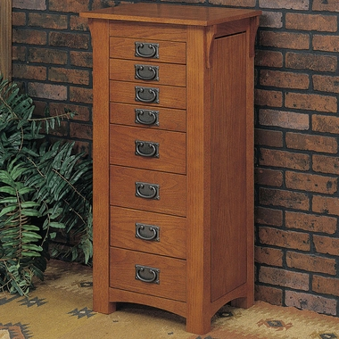 Mission Oak Jewelry Armoire by Powell Furniture