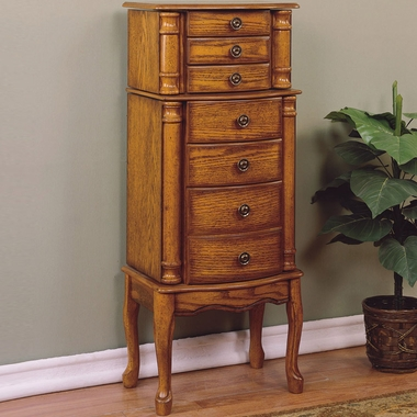 Woodland Oak Jewelry Armoire by Powell Furniture