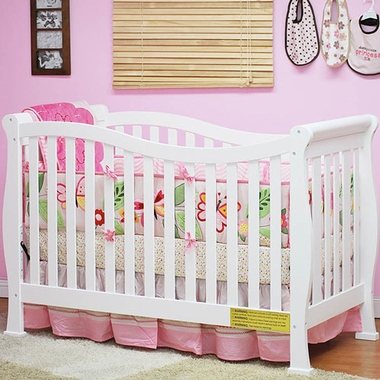White Athena Nadia 3 in 1 Convertible Crib by AFG - Click to enlarge
