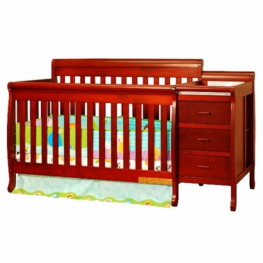 Cherry Athena Kimberly 3 in 1 Convertible Crib and Changer Combo by AFG - Click to enlarge