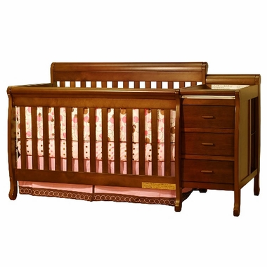 Espresso Athena Kimberly 3 in 1 Convertible Crib and Changer Combo by AFG - Click to enlarge