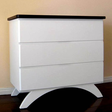 Espresso and White Madison Dresser by Eden Baby