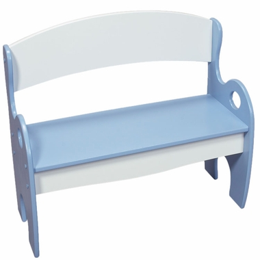 Blue & White Blue and White Childrens Bench by Kids Korner - Click to enlarge