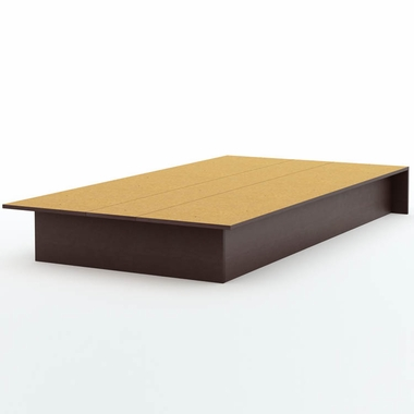 Chocolate Step One Twin Platform Bed by SouthShore - Click to enlarge