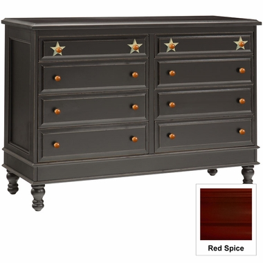 Red Spice Stars 8 Drawer Dresser by Alligator - Click to enlarge
