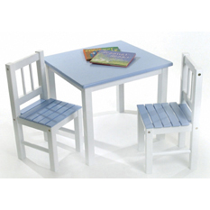 Blue & White Table & Chair by Lipper - Click to enlarge