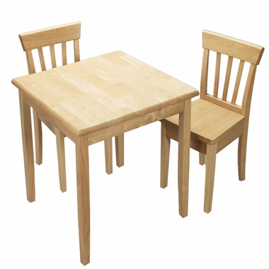Deluxe Square Table and Two Chair Set by Kids Korner