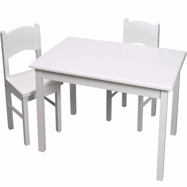 White Rectangle Table and Two Chair Set by Kids Korner - Click to enlarge