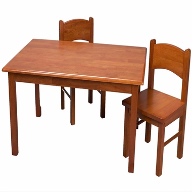 Honey Rectangle Table and Two Chair Set by Kids Korner - Click to enlarge