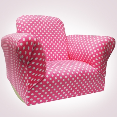Hot Pink Dot Standard Rocker by Magical Harmony Kids - Click to enlarge