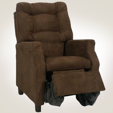 Chocolate Microfiber Deluxe Recliner by Magical Harmony Kids - Click to enlarge
