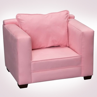 Pink Microfiber Modern Chair by Magical Harmony Kids - Click to enlarge
