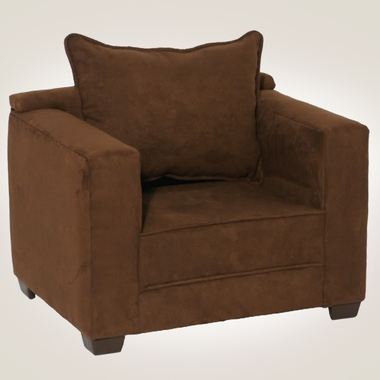 Chocolate Microfiber Modern Chair by Magical Harmony Kids - Click to enlarge