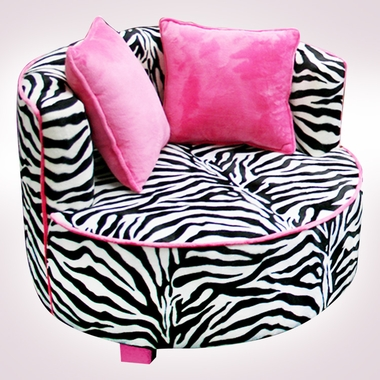 Minky Zebra Redondo Chair by Magical Harmony Kids - Click to enlarge