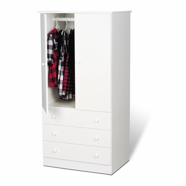White Casual Bedroom Juvenile Wardrobe by PrePac