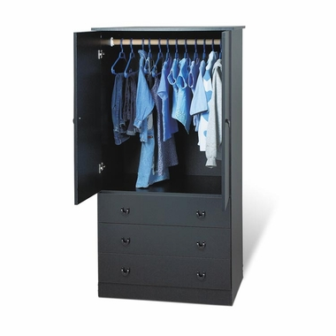 Black Casual Bedroom Juvenile Wardrobe by PrePac