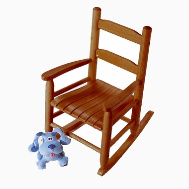 Pecan Child's Rocking Chair by Lipper - Click to enlarge