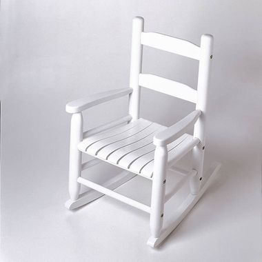 White Child's Rocking Chair by Lipper - Click to enlarge