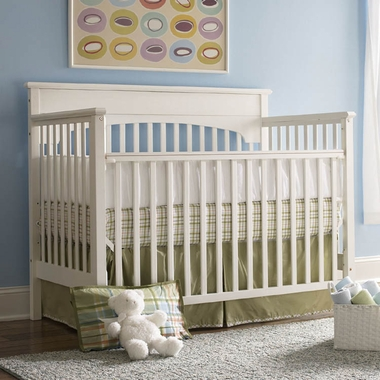 Graco Cribs Lauren 4 in 1 Convertible Crib in White - Click to enlarge