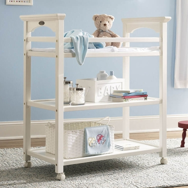 White Lauren Changing Table by Graco Cribs - Click to enlarge