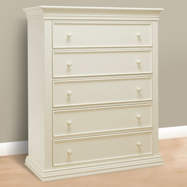 French White Verona 5 Drawer by Sorelle
